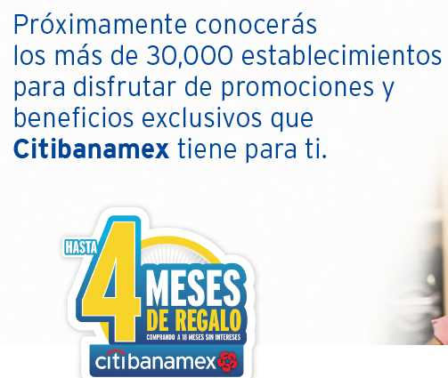 El Buen Fin 2016 Banamex Hasta 4 Meses de Regalo