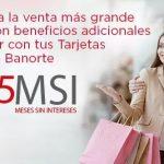 El Buen Fin 2016 Banorte e IXE 5% de bonificación a meses sin intereses