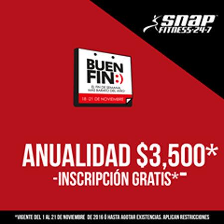 El Buen Fin 2016 en gimnasios Snap Fitness y Anytime Fitness