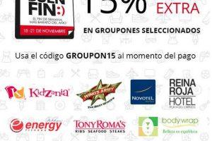 El Buen Fin 2016 Groupon 15% de descuento adicional en cupones