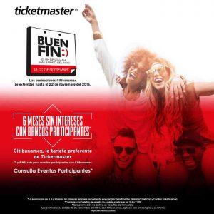 Ofertas del Buen Fin 2016 en Ticketmaster