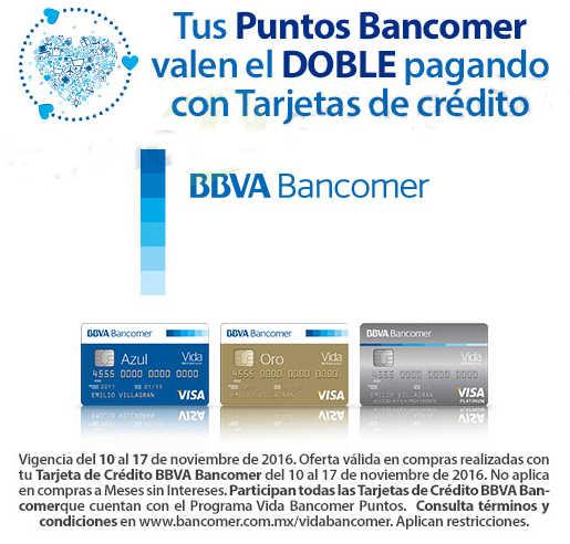 El Buen Fin 2016 Walmart Puntos Dobles BBVA Bancomer