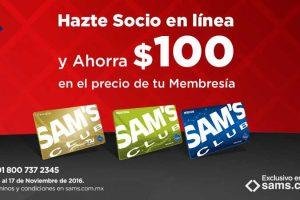 El Buen Fin Sam's Club Hazte Socio y ahorra $100 en membresia Sams