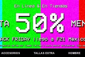 Ofertas de Black Friday 2016 Forever 21