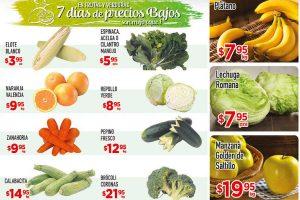 Frutas y Verduras HEB del 22 al 24 de Noviembre
