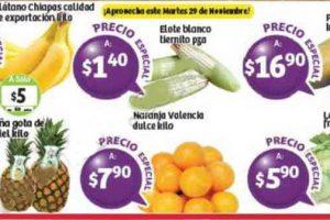 Frutas y verduras Soriana 29 y 30 de Noviembre 2016