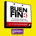 Ofertas del Buen Fin 2016 en Librerías Gandhi