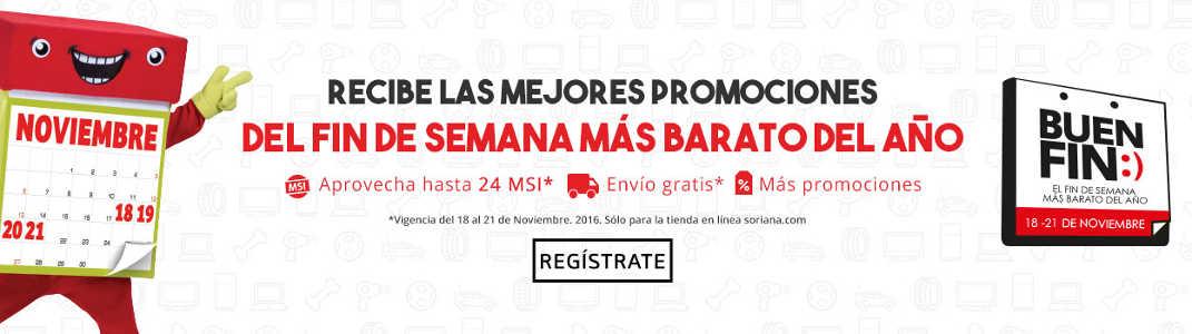 Promociones del Buen Fin 2016 en Soriana Online