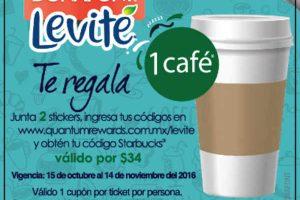 Promoción Levité Bonafont Starbucks Café GRATIS