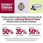 Promociones del Buen Fin 2016 en Nacional Monte de Piedad