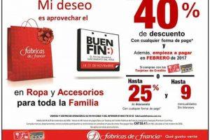 Promociones del Buen Fin 2016 en Fábricas de Francia