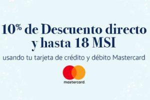 Amazon cupón de 10% de descuento y 18 msi con MasterCard