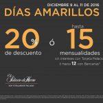 Días Amarillos Palacio de Hierro del 9 al 11 de Diciembre 2016