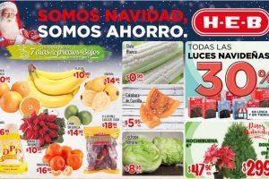 Frutas y Verduras HEB del 6 al 8 de Diciembre 2016