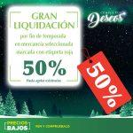 Liquidación de Fin de Temporada Comercial Mexicana 50% de descuento