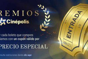 Promoción Premios Cinépolis 2017 Precio Especial o 2x1 en Boletos