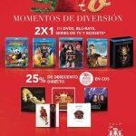 Sanborns 2×1 en películas y series, 25% de descuento en CDs de Música