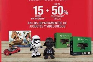 Sanborns hasta 50% de descuento y 18 msi en juguetes y videojuegos