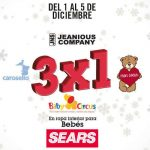 Sears 3×1 en ropa interior de bebés del 1 al 5 de diciembre