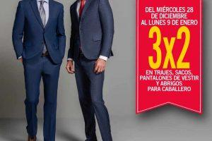 Sears 3×2 en trajes, sacos, pantalones de vestir y abrigos para caballero