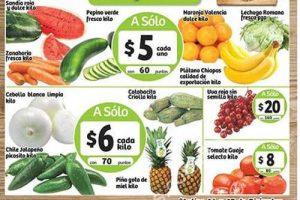 Frutas y verduras Soriana Diciembre