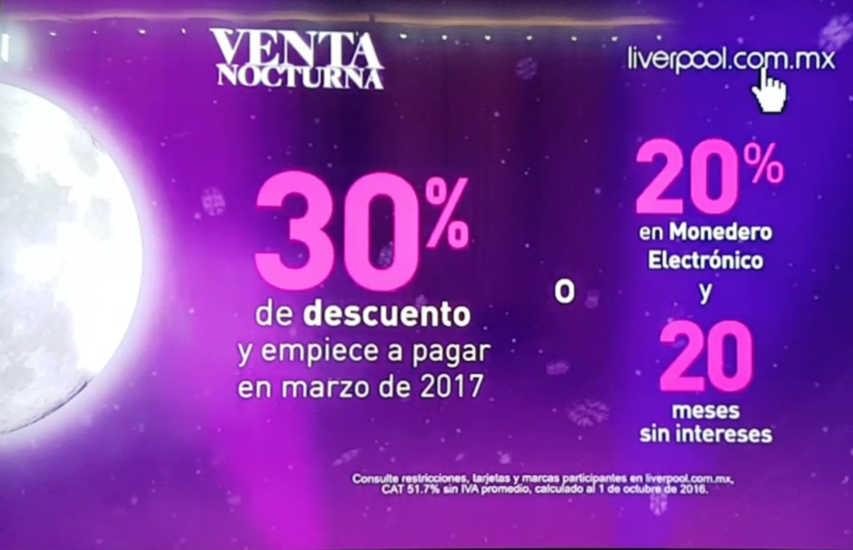 venta nocturna liverpool 2019