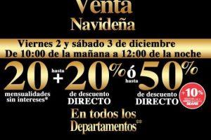 Venta Nocturna Sears 2 y 3 de Diciembre 2016