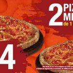 Benedetti's 2 pizzas medianas de 1 ingrediente a $154