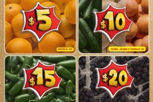 Bodega Aurrera frutas y verduras tiánguis de mamá lucha del 20 al 26 de enero
