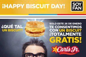 Carls Jr Biscuits Gratis 26 de Enero en Nuevo León, Saltill