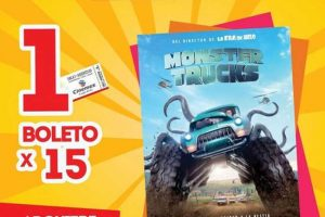 Cinemex funciones matinée de Monster Trucks a $15 el boleto