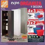 Folleto Home Depot Expo Organiza y Decora 3x2 y 4x3 en Articulos