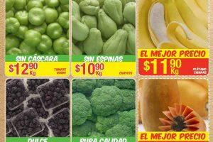 Frutas y Verduras Bodega Aurrerá Tiánguis de Mamá Lucha del 13 al 19 de Enero