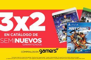 Gamers 3×2 en videojuegos seminuevos del 23 al 29 de enero