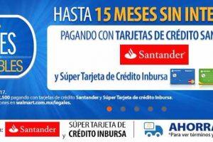 Jueves imperdible Walmart hasta 15 msi con Santander 19 enero