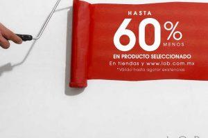 LOB rebajas hasta 60% de descuento en mercancia seleccionada