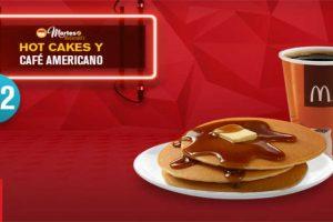 Martes de McDonald's 3 Hot Cakes y Café americano por $22
