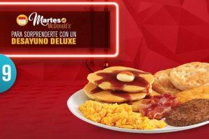 Martes de McDonald's Cupón Desayuno Deluxe por $49