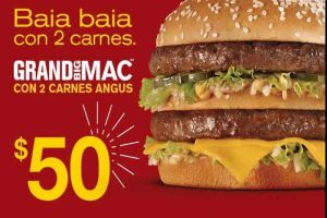 McDonald's Grand Big Mac con 2 carnes angus por $50