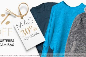 Osom: 40% de descuento + 30% adicional en playeras, camisas, sudaderas y suéteres