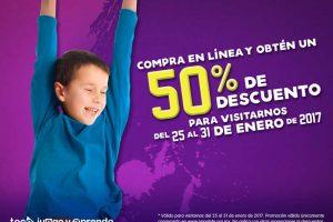 Papalote Museo del Niño 50% de descuento comprando en línea
