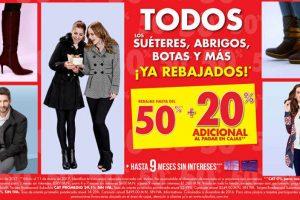 Rebajas Suburbia 50% de descuento + 20% adicional en suéteres, abrigos y botas