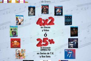 Sears 4×2 en discos y películas y 25% de descuento en series y box sets