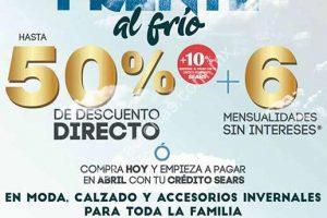 Sears hasta 50% de descuento y 6 meses sin intereses en ropa invernal