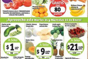 Frutas y Verduras Soriana 24 y 25 de enero de 2017
