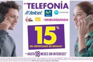 Suburbia 15% Certificado de Regalo en Telefonía Telcel, Movistar y Más