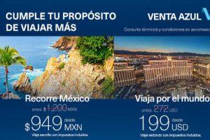 Venta Azul Aeroméxicodel 23 al 26 de enero de 2017