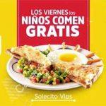 Vips Niños comen GRATIS los Viernes a partir del 6 de enero
