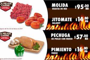Carnes Frutas y Verduras Comercial Mexicana y Mega del 24 al 26 de Febrero