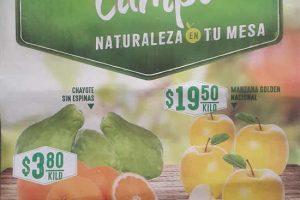 Frutas y verduras Comercial Mexicana y Mega Febrero 2017